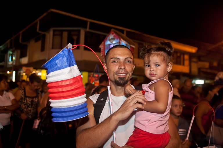 Traditional Independence Day Parade in Costa Rica