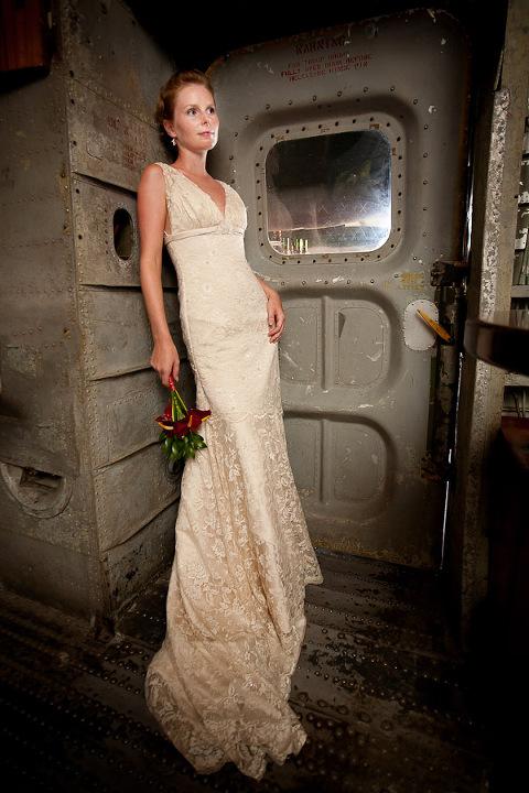 Bride in Plane in Costa Rica.