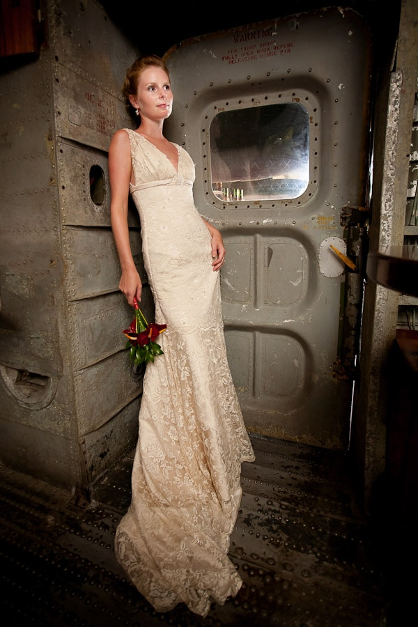 Bride in Plane in Costa Rica.