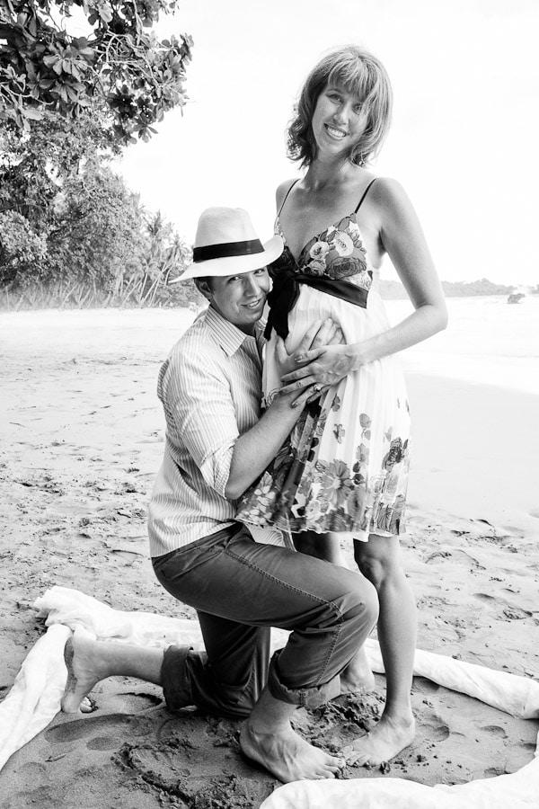 Pregnant bride in Costa Rica.