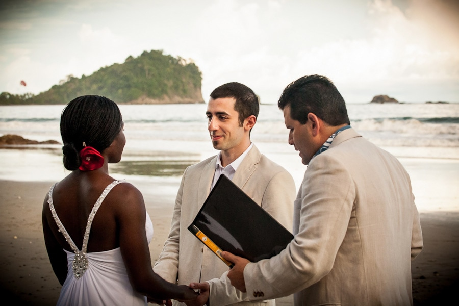 An intimate elopement on the beach