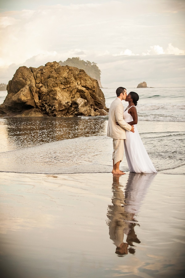 Intimate elopement on the beach