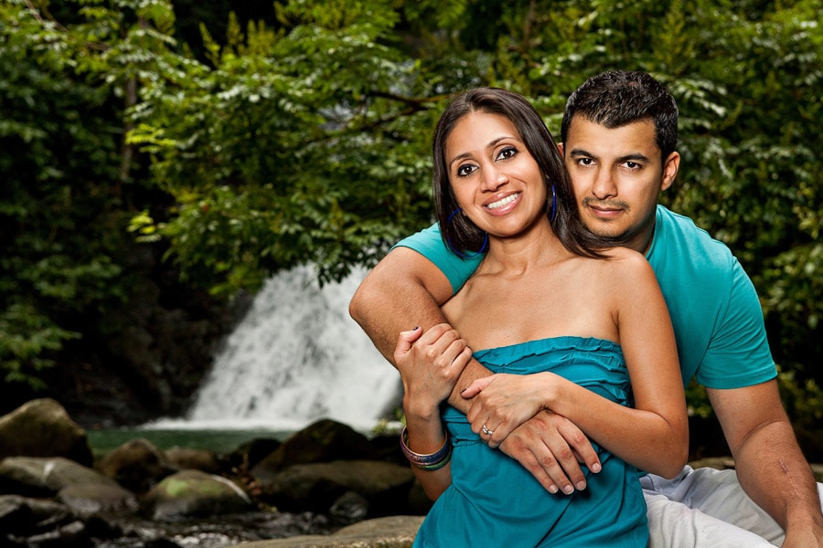 Photo session at Waterfall in Dominical Costa Rica.