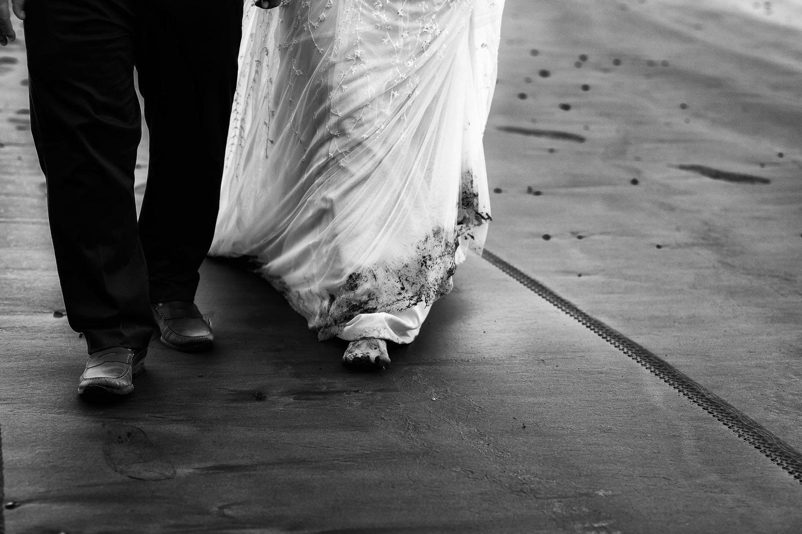 dirty feet wedding