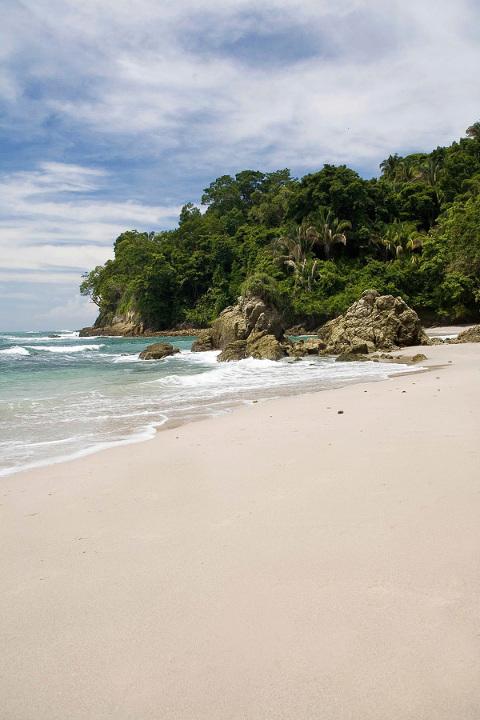 View of beach in Costa Rica
