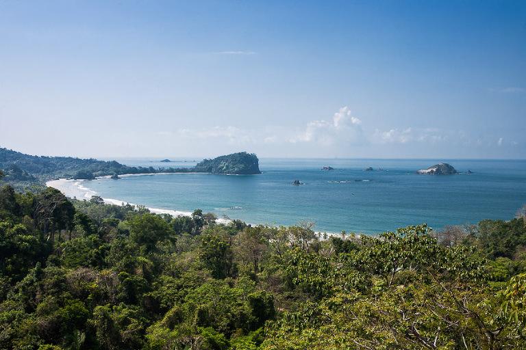 View of national park in Manuel Antonio