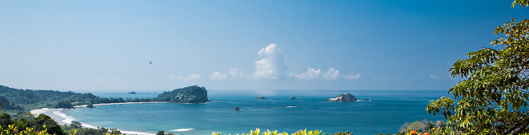 View of the beach in Manuel Antonio