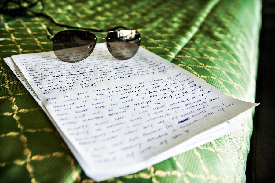 groom's notes in villas caletas.