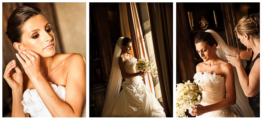 Bride before wedding in costa rica.