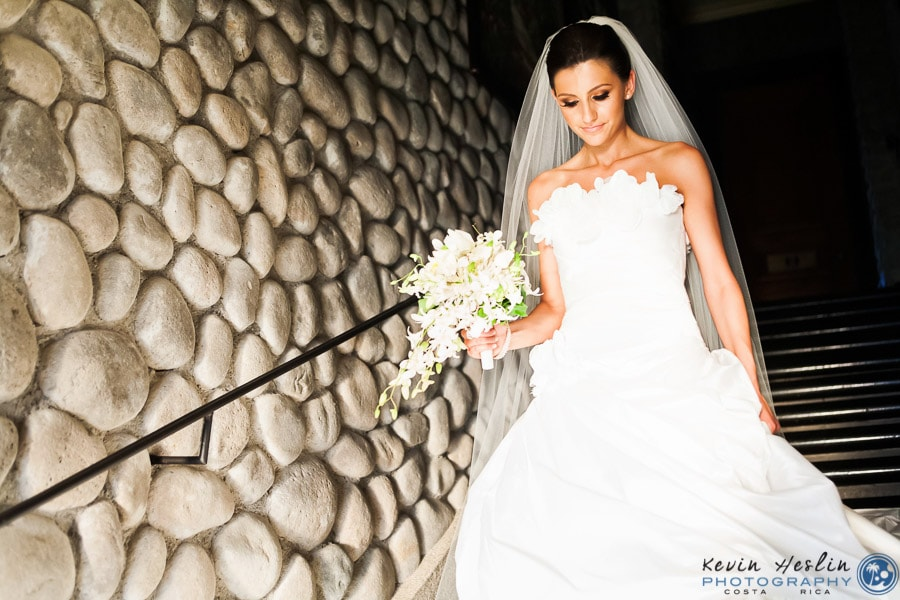 bride on stairs.