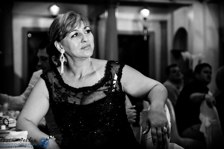 Mother of bride at wedding.
