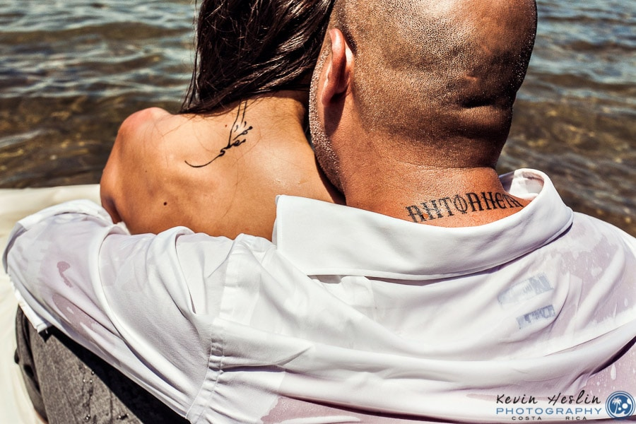 Bride and Groom's tattoos.