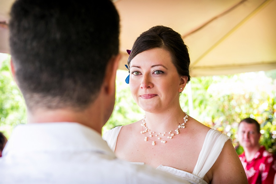 Bride at ceremony in Costa Rica