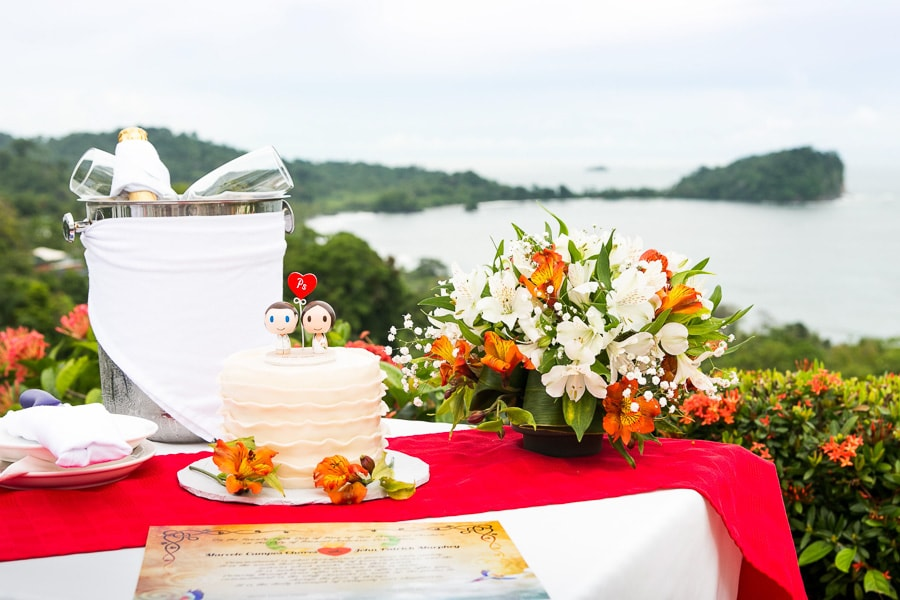 Wedding details in Costa Rica