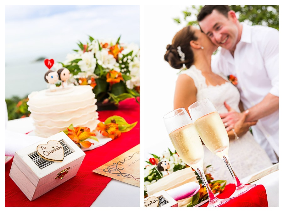 wedding details Manuel Antonio