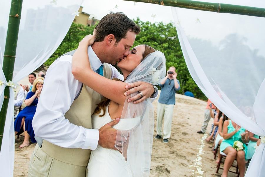 Tamarindo beach wedding.