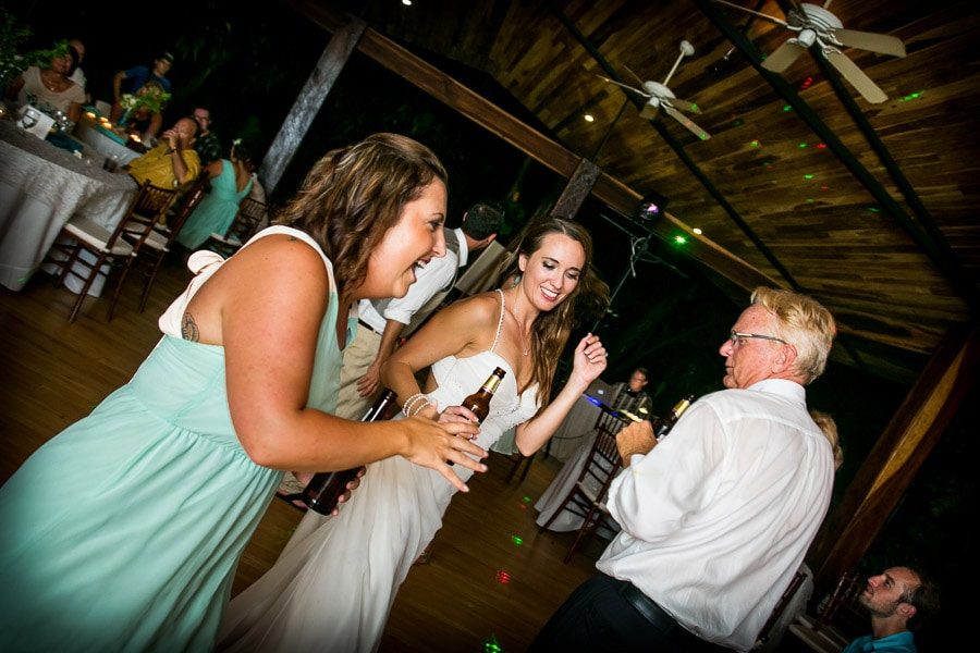 Wedding Reception at Cala Luna Hotel.