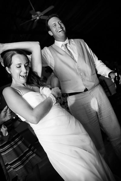 Bride and groom dancing in Costa Rica.