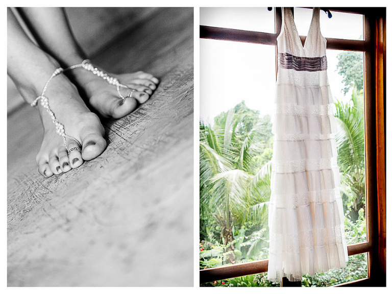 Feet Jewelry in Costa Rica wedding.