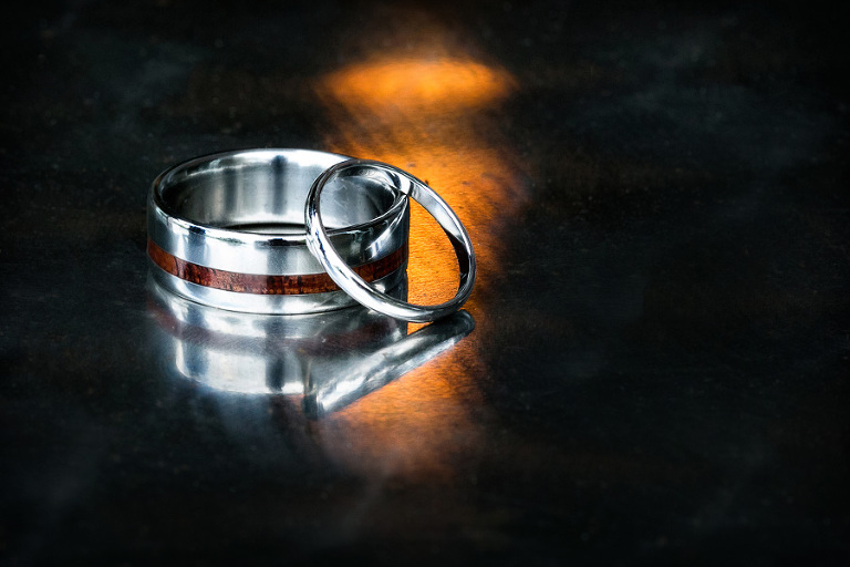 Interesting wedding ring shot.