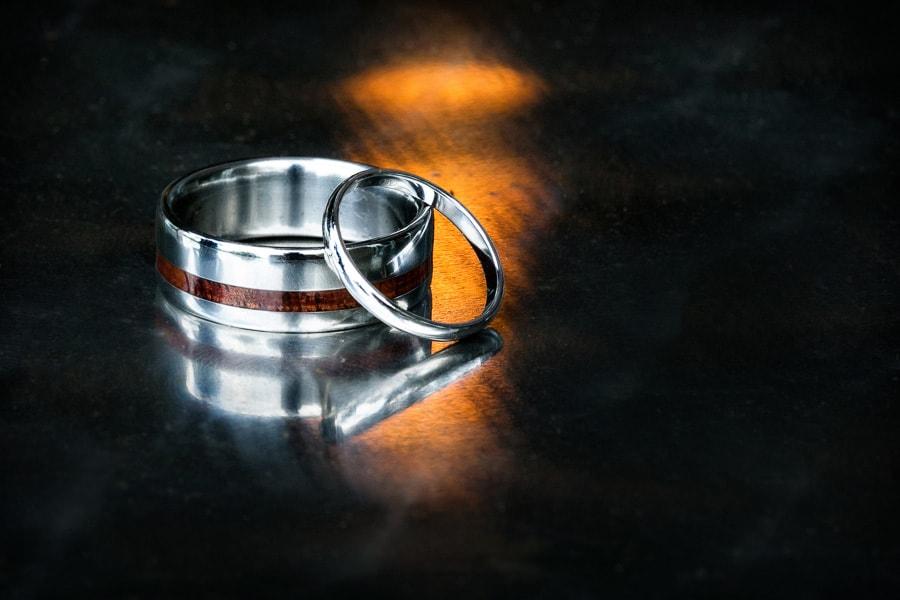 Interesting wedding ring shot.