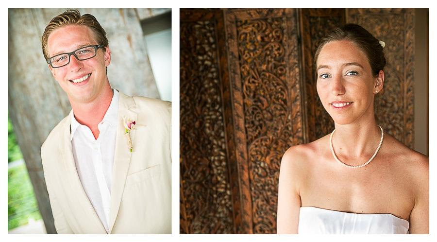 Wedding couple at Punto de Vista Villa in Manuel Antonio.