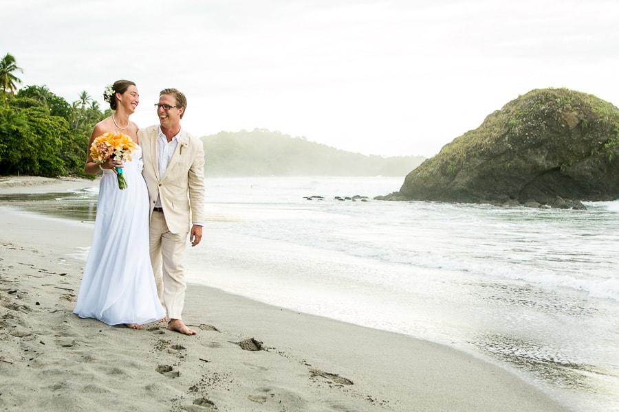 Wedding at Playitas beach Costa Rica.