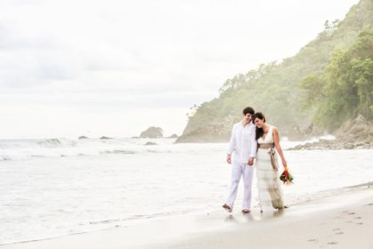 Manuel Antonio beach wedding.