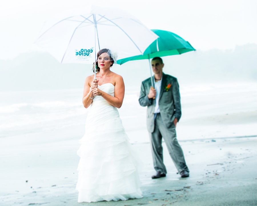 Rain at wedding in Costa Rica.
