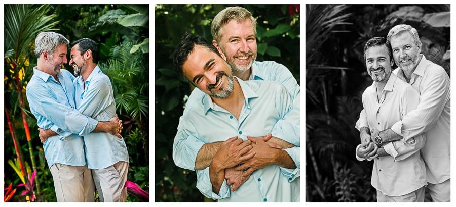 Same sex wedding in Manuel Antonio.