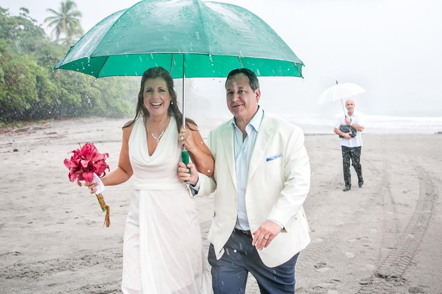 Rain at wedding at Gaia hotel.