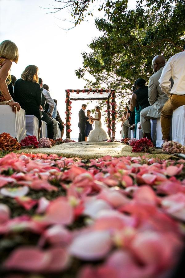 New Year's Eve wedding ceremony