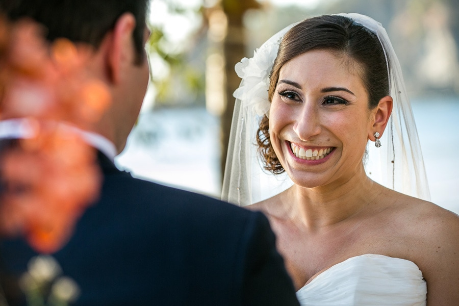 Bride at destination wedding.