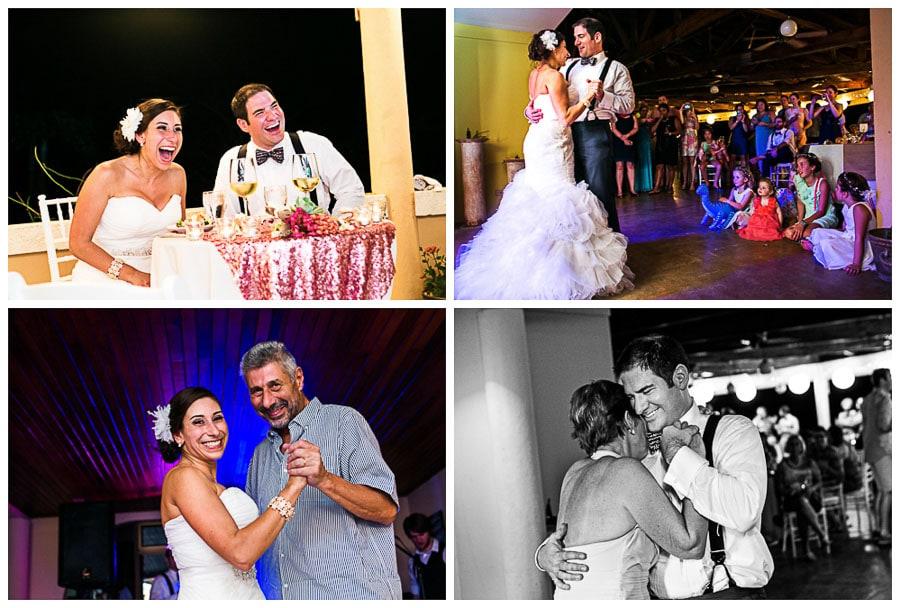Costa Rica destination wedding reception.