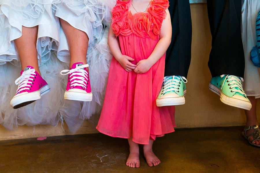 Converse All Stars sneakers at wedding.