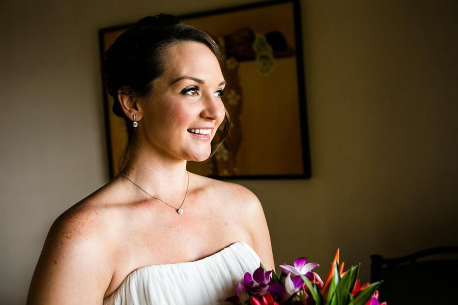 Bride at destination wedding Costa Rica.