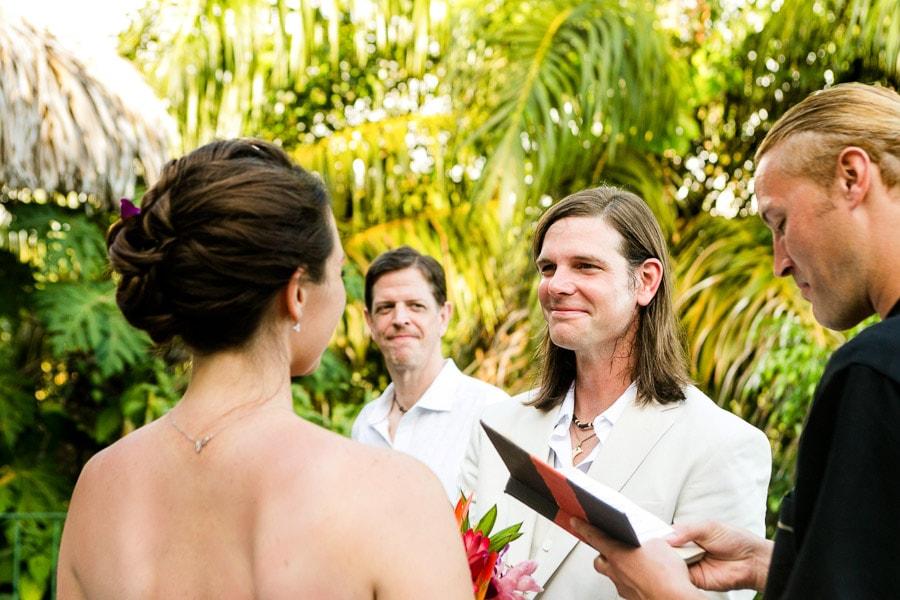 Wedding ceremony at Villa El Cantico.