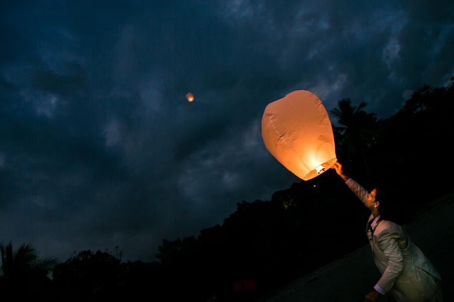 Sky Lanterns for beach wedding.