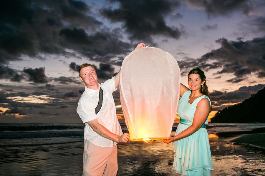Sky lantern wedding.