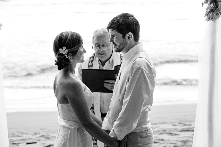 Manuel Antonio beach wedding ceremony
