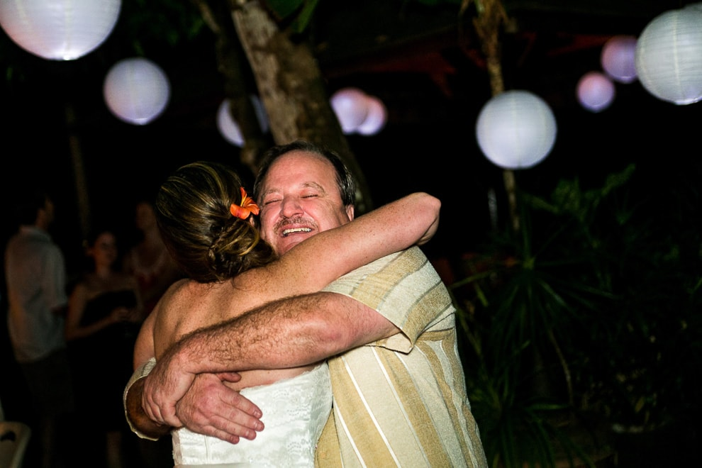 Father Daughter dance at wedding at Bali House.