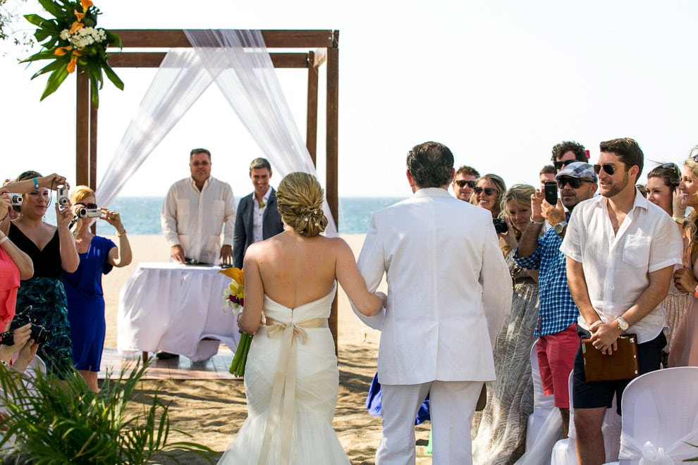 Wedding ceremony on beach in guanacaste