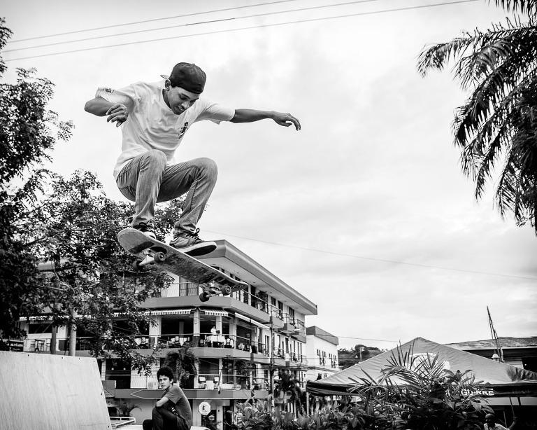 Costa Rican Skate Boarder