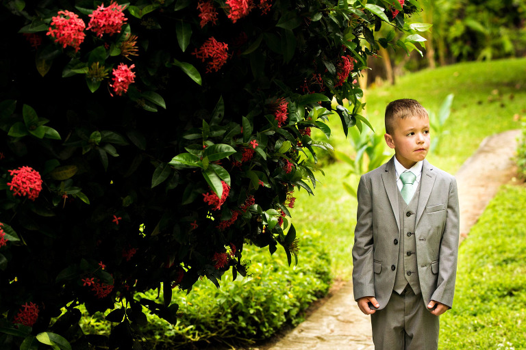 ring bearer at wedding ceremony