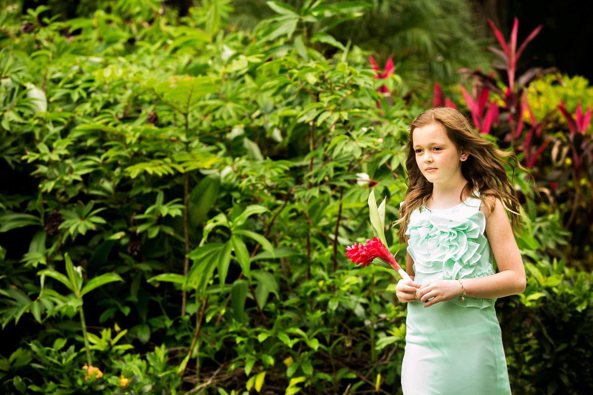 flower girl in costa rica