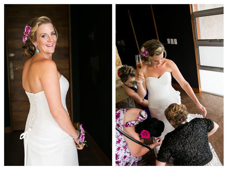 bride getting ready at punto de vista costa rica