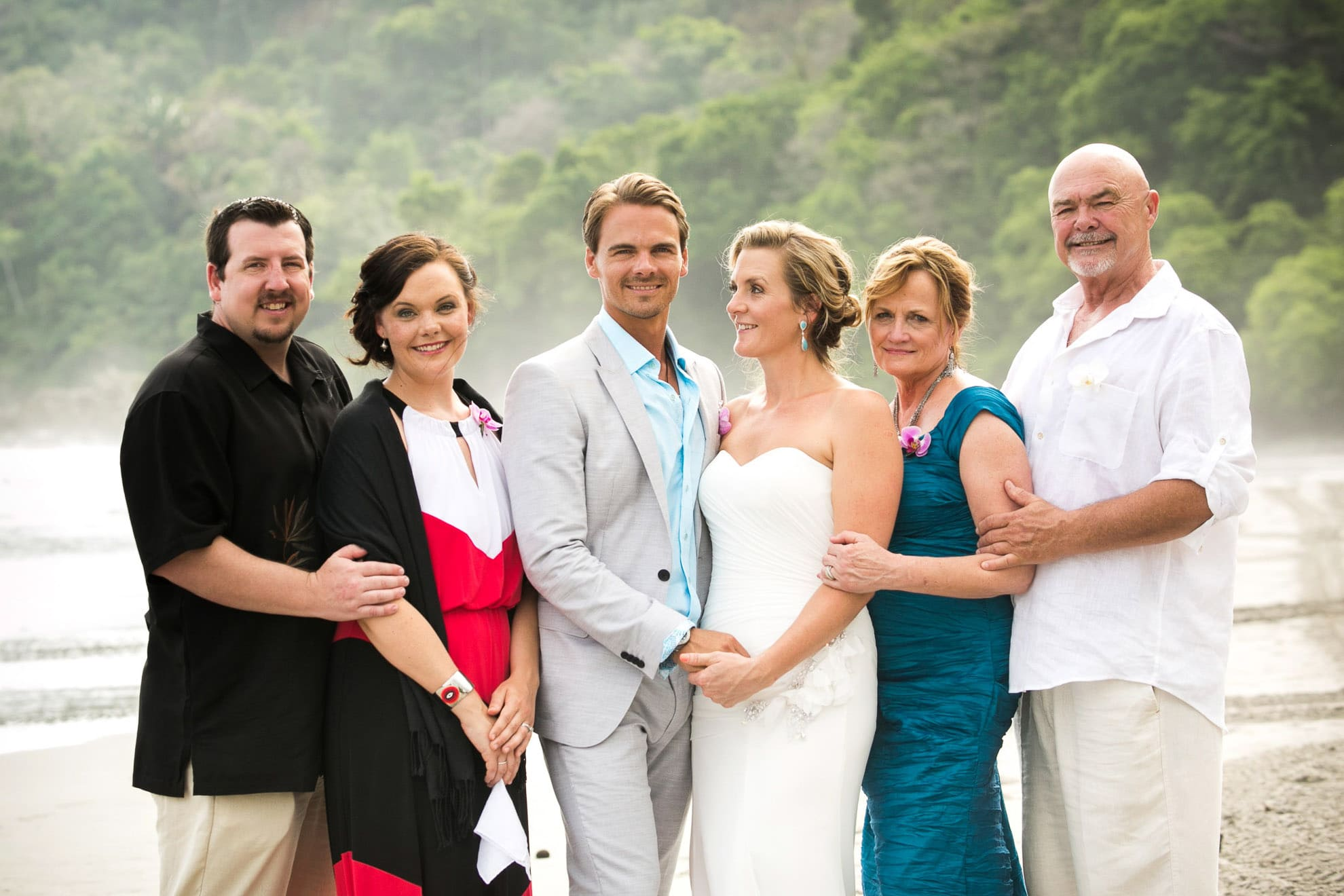family portraits at destination wedding in Costa Rica