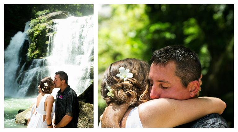 Wedding ceremony at waterfall in Costa Rica
