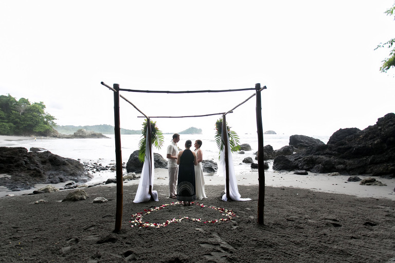 Wedding on beach in Costa Rica.