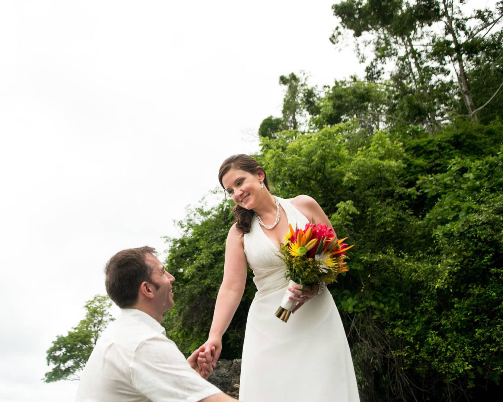Destination wedding in Costa Rica.